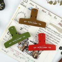 Plastic Clips Bulldog Grip Clip Food Sealer Clamp Paper Binder Ticket Docum J8W5