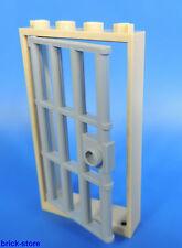 LEGO Prison Porte / 1x4x6 Cadre Beige / avec insert grille gris clair