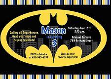 Batman, Superhero, Birthday Party, Birthday, Invitation
