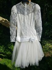 PRONUPTIA WEDDING DRESS EX SAMPLE  LACE NET SKIRT GREAT GATSBY/20'S LOOK SIZE 12