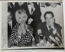 Brigitte Bardot and Louis Malle 1965 vintage original wire press photo
