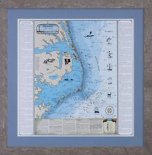 Framed NC Hatteras Shipwreck Chart - Nautical Print
