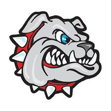 Bulldog Temporary Tattoos (25 tats) Red Collar School Spirit Mascot Face