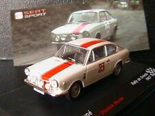 SEAT 850 COUPE #23 ANTONIO PEREZ SUTIL MORAN RALLY DE OVIEDO 1967 IXO 1/43