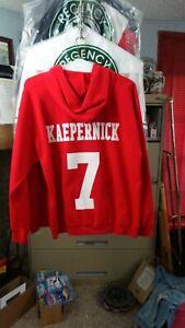 SF49ers #7 Colin Kapernick zip up Hoodie Jacket Men's Large