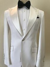 Black and white wide peak lapel tuxedo with pant-made In Italy