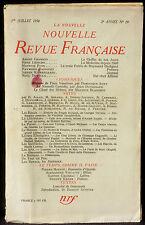 La Nouvelle revue française juillet 1954 TBE