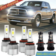 CREE LED Headlight+ Fog Light MN For Dodge Ram 1500 2500 3500 4500 5500 2009-17