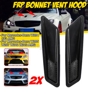 Pair Tuning Stance Drifting Turbo Hood Vents Duct For Mercedes AMG C63 style