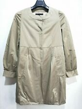 B+ab Beige Collarless Coat