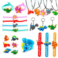 Dinosaur Party Birthday Decor Kids Rubber Bangle Keychain Kids Party Baby Shower