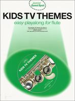 KIDS TV THEMES Flute Sheet Music Book & Playalong CD Songs Tunes Shop Soiled