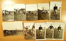 10 Antique Photographs 1926 BOYS FOOTBALL TEAM & GAME WESTWOOD NJ HIGH SCHOOL
