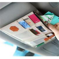 Auto Car Sun Visor Point Pocket Organizer Pouch Bag Card Storage Holder Bags W