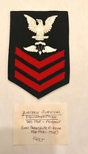 US NAVY AIRCREW SURVIVAL EQUIPMENTMAN FIRST CLASS PETTY OFFICER FELT RATE PATCH
