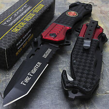 "8.5"" TAC FORCE EMT FIREFIGHTER SPRING ASSISTED TACTICAL POCKET KNIFE Blade Open"