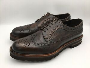 Florsheim Royal Imperial Vibram Wingtip Brown Leather Shoes Men's Size 11 US