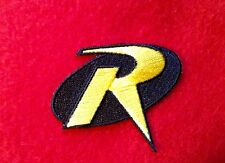 Robin Iron On Embroidered Patch. 2.2 X 1.8 Inch Batman Boy Wonder Halloween