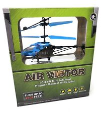Air Victor Remote Control Helicopter  2CH Infrared Blue Camouflage RC NEW