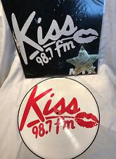 """PICTURE DISC Kiss 98.7 FM 'mix' Vinyl 12"""" Record Album LP Germany 1985 Funk Soul"""