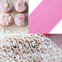 Lace Silicone Mold Mould Sugar Craft Fondant Mat Cake Decorate Bake Tool