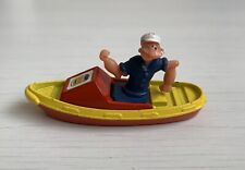 Vintage Corgi Popeye The Sailor Man in Diecast Tug Boat Made in Great Britain