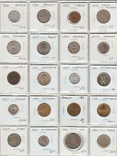 Collection 20 European Coins 1927 to 2002 20 countries