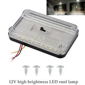 12V 7.2W Car 36 LED Roof Reading Lamp Ceiling Interior RV Trunk Light W/Switch