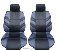 2x Sitzauflage Sitzaufleger Grau Schwarz Autositzauflage Autositz Hochwertig für