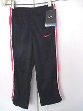 Nike DRI-FIT~Black w/ Pink ATHLETIC WARM-UP PANTS~Girls Size 4~NWT