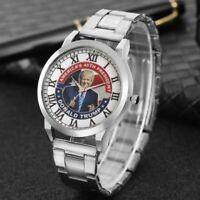 Wrist Watch Donald TRUMP 2020 Wristwatch Analog Quartz Stainless Steel Watches