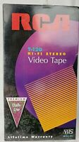 Lot of 2 BRAND NEW Sealed RCA T-120 Blank VHS Tape Hi-Fi Stereo 6 Hour Recording