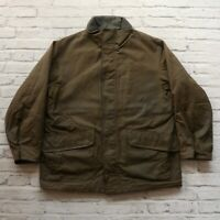 Vintage Polo Ralph Lauren Wax Jacket Size L Green Hunting