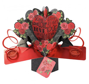 Birthday Card Pop Up 3D Card Suitable For Wife Girlfriend Husband Boyfriend ....