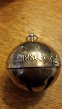Wallace 1980 Silver Plate Bell/Ornament - 14 available