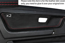 RED STITCH 2X DOOR CARD TRIM LEATHER SKIN COVERS FITS VW SCIROCCO MK2 81-92