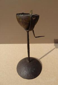 Wrought iron trunnion lamp18th century