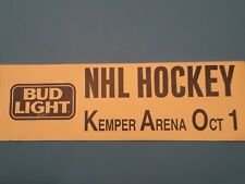 NHL Hockey Kemper Arena Was Home To The Kansas City Scouts 1974-76, 2 Seasons.
