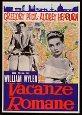 POSTER VACANZE ROMANE VESPA PIAGGIO AUDREY HEPBURN GREGORY PECK WILLIAM WYLER +