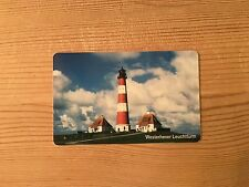 PHONECARD PHONE CARD TELEFONKARTE USED GERMANY WESTERHEVER LIGHTHOUSE SEA