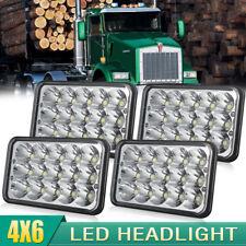 "4x Triple row 4""x6 inch LED Headlights DRL for Peterbilt Kenworth Freightliner"