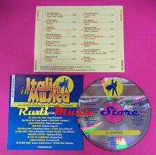 CD Italia In Musica Lo Swing Compilation tony bramante rommi no mc dvd vhs(C35)
