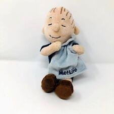 Peanuts Metlife Linus Plush Blanket Charlie Brown Stuffed Doll Toy