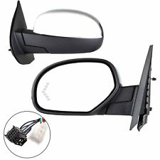 Left Power Folding Memory Heated Chrome Signal Driver Side Mirror for Chevy GMC