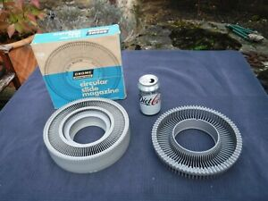 Lot of 2 Slide Projector Carousels Rotary Slide Magazines Trays