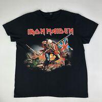 Iron Maiden Bay Island Sportswear Black Graphic T Shirt EUC Short Sleeve Size XL