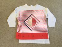 Vtg 90s ESPRIT Sport Sweatshirt Womens Large Soft Faded Oversized Graphic Logo