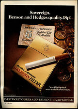 Benson & Hedges Cigarettes 1972 Magazine Advert #17737