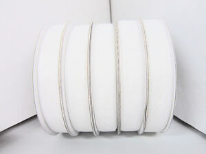 "25 yards Roll High Quality Organza Sheer 3/8"" Ribbon/Wedding/Favors OR38-White"