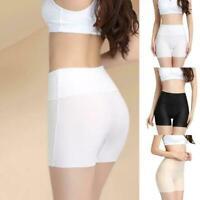 Frauen Mode nahtlose atemlose hohe Taille Softeis Seide Hose kurze Sicherhe R8I4